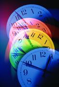 Coloured Clock Faces