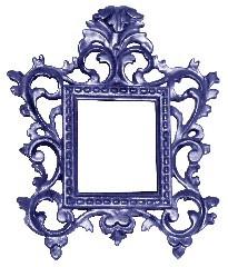 Blue ornate frame