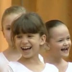Children in a dance class in Russia