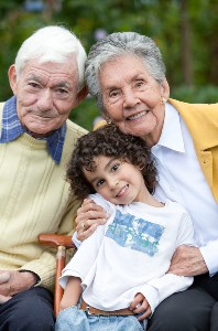 Young Child with Grandparents