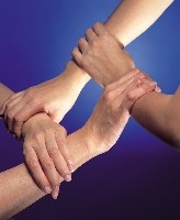 Collaboration - hands together